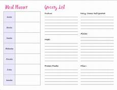 Meal List 4 Free Printable Meal Planners Amp Grocery Lists Save Time
