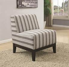 striped accent chairs 902610 accent chair set of 2 in striped fabric by coaster