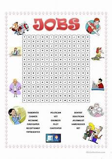 Job Search Activities Jobs Wordsearch Worksheet Free Esl Printable Worksheets