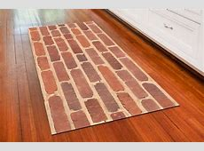 Photo Mat   Red Brick in Patterned Rugs
