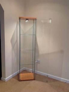 Detolf Cabinet Lighting Detolf Ikea Display Cabinets X 2 Light Oak In Galston