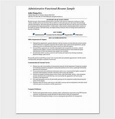 Functional Resume Template Pdf Functional Resume Template 14 Free Samples Amp Examples