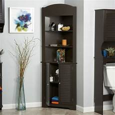 espresso bathroom linen tower corner towel storage cabinet