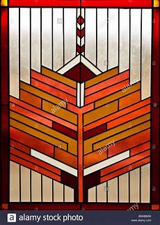 Art Deco Stained Glass Window Designs Symmetrical Stained Glass Window Retro Art Deco Design