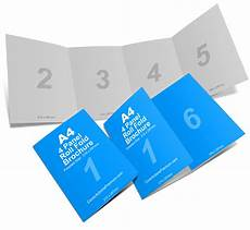 4 Pages Brochure 4 Panel A4 Roll Fold Brochure Mockup Cover Actions