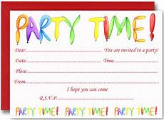 Party Invitation Card Template Free Birthday Party Invites For Kids Free Printable