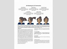 (PDF) 2D Shading for Cel Animation