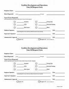 Employee Time Off Request Form 40 Effective Time Off Request Forms Amp Templates ᐅ Templatelab