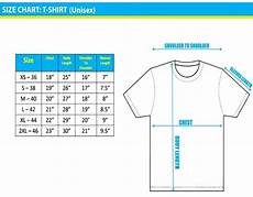 Universal T Shirt Size Chart T Shirt Sizes