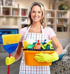 House Cleaning Pics Young Smiling Cleaner Woman In Modern House Almeidas