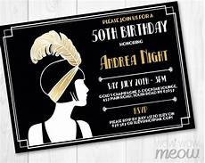 1920s Invitation Template Free Gold 1920 S Invitation Gold Birthday Invite Art Deco Any