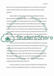 Essay About Future The House Of The Future Essay Example Topics And Well