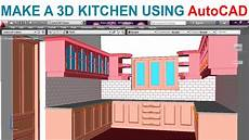 Autocad 2018 For The Interior Designer Pdf Modeling A Kitchen Using Autocad Part1 Youtube
