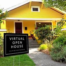 Virtual Open House Virtual Open House Minimalist Yard Sign All Things