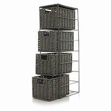 george home woven grey 4 drawer unit storage george at
