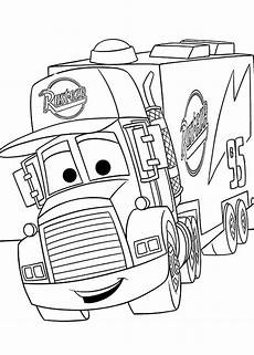 Malvorlagen Cars Mack Mack From Disney Cars 2 Coloring Page Print