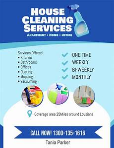 Cleaning Leaflet Template Copy Of House Cleaning Services Flyer Poster Template