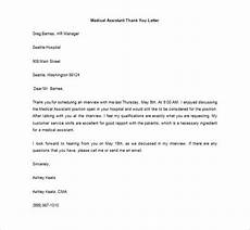 Medical Assistant Thank You Letter Examples Medical Thank You Letter 9 Free Word Excel Pdf Format