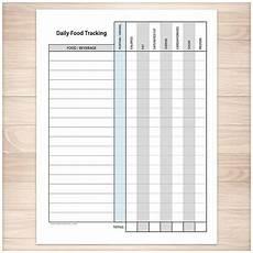 Sodium Counter Chart Printable Food Tracking Sheet Healthy Eating Daily