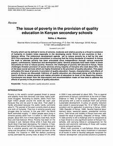 Poverty Essays Research Paper On Poverty And Education Effects Of