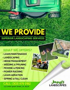 Lawn Mower Flyers Lawn Service Flyer Template Postermywall