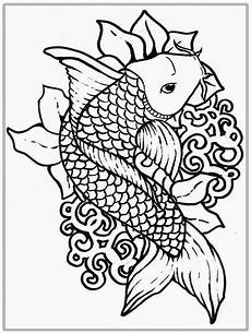 koi fish coloring pages to and print for free