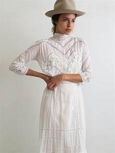 antique lawn dress 1900 s edwardian dress vintage