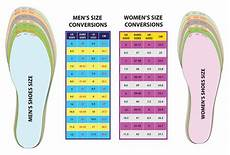 Conversion Chart Mens To Womens Shoes Detailed Shoe Size Conversion Charts For Men S Amp Women S