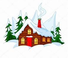 Malvorlage Haus Mit Schnee Kleines Haus Auf Schnee H 252 Gel Stockvektor 94062160