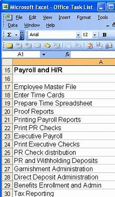 Office Tasks List Accounting And Management Template Library Copedia