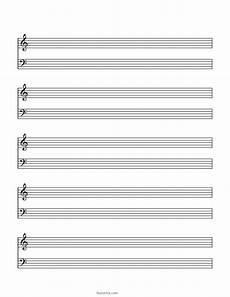 Piano Staff Paper Blank Sheet Music Paper Grand Staff Blank Sheet Music