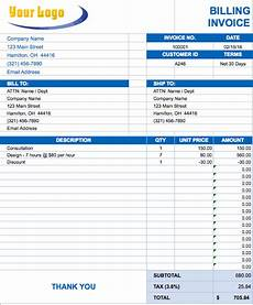 Sample Invoice Template Excel Free Excel Invoice Templates Smartsheet
