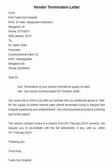 Vendor Termination Letter 38 Free Termination Letter Templates Pdf Doc Free