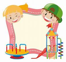 Playground Templates Background Template With Kids And Playground Vector Free