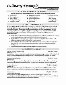 Example Of Chef Resume Sous Chef Resume Example