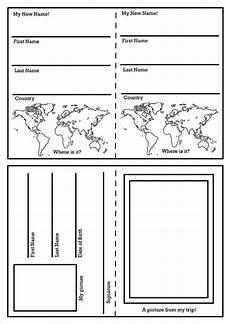Passport Template Download Passport Template 19 Free Word Pdf Psd Illustrator