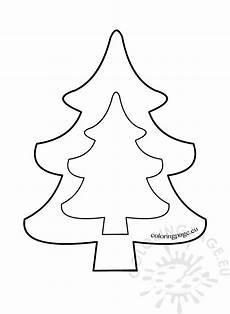 tree template to print weihnachtsbaum basteln