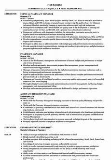 Pharmacy Manager Resume Pharmacy Manager Resume Samples Velvet Jobs