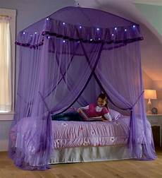 lighted bed canopy sparkling lights bower