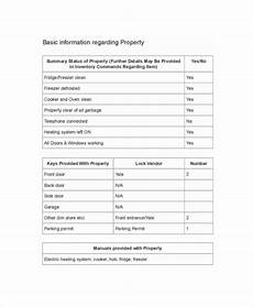 Landlord Templates Landlord Inventory Template 8 Free Word Documents