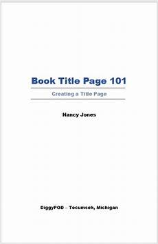 Title Page Examples Book Title Page Amp Half Title Page What Are They Title