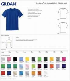 Gildan Shirt Color Chart Gildan 50 50 Custom T Shirts Elevation Sports