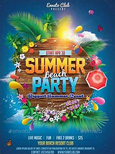 Summer Party Invites 18 Summer Party Invitations Psd Ai Eps Free