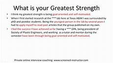 Strength And Weakness Interview Question Interview Sample Answer What Is Your Greatest Strength