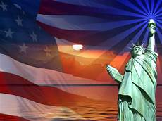 Patriotic Powerpoint Background Patriotic Flag Sunset Statue Of Liberty Backgrounds Flag