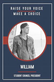 Campaign Poster Template Free Copy Of Modern High School Election Campaign Poster