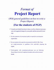 Project Reports Format Project Report Format By Vishal
