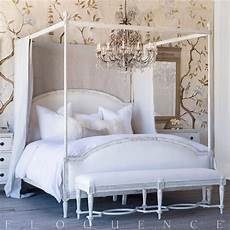 White Bed Canopy Eloquence Dauphine Canopy Bed In Weathered White