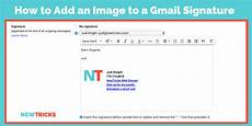 How To Make An Email Signature How To Add An Image To Your Gmail Signature