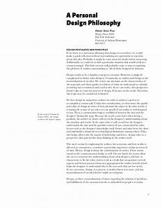 Design Philosophy Statement A Personal Design Philosophy
